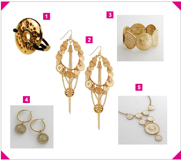 Coin Earrings on Trend Alert     Gold Coin Jewelry   The Looks For Less