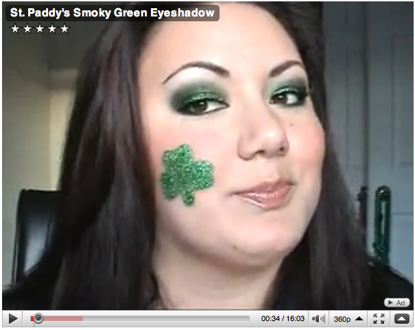 Makeup – St. Patrick's Day Smokey Green Eyeshadow