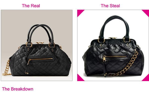 Steal the Real – Marc Jacobs Stam Satchel | The Looks For Less : marc jacobs quilted satchel - Adamdwight.com