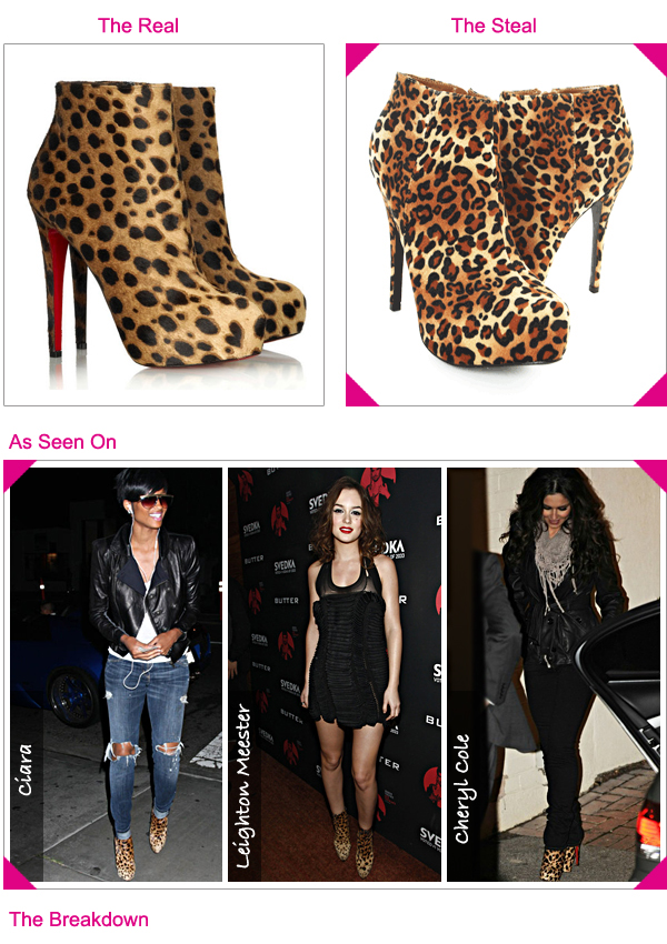 christian louboutin ankle boots leopard