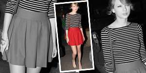 As Seen On – Taylor Swift's Nautical Look From Zara - Get The Celebrity Look For Less