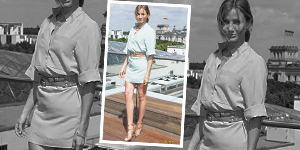 Cameron's Summer Style – Chambray Belted Dress - Get The Celebrity Look For Less