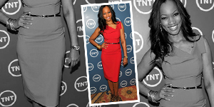 Garcelle Beauvais&#8217;s Red Asymmetrical Dress For Less - Get The Celebrity Look For Less