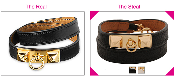 Hermes Double Leather Wrap Chamonix Bracelet Look For Less