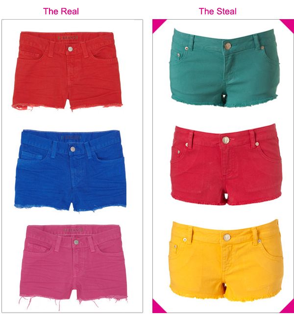 Colored Jean Shorts - The Else