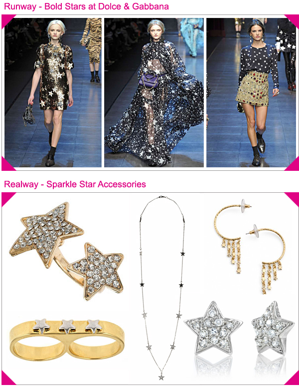 Dolce & Gabbana Fall 2011 Stars Accessories Look For Less