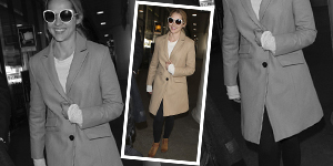 Teresa Palmer's Trench Coat & Suede Moto Boots - Get The Celebrity Look For Less