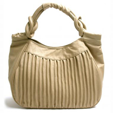 Tan Pleated Faux Leather Tote - Get The Look For Less