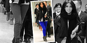 Kim Kardashian in Bright Blue J. Brand Skinny Jeans - Get The Celebrity Look For Less